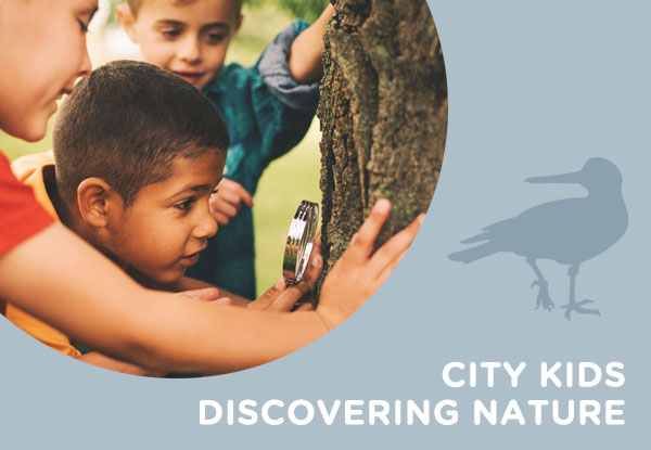 City kids discovering Nature